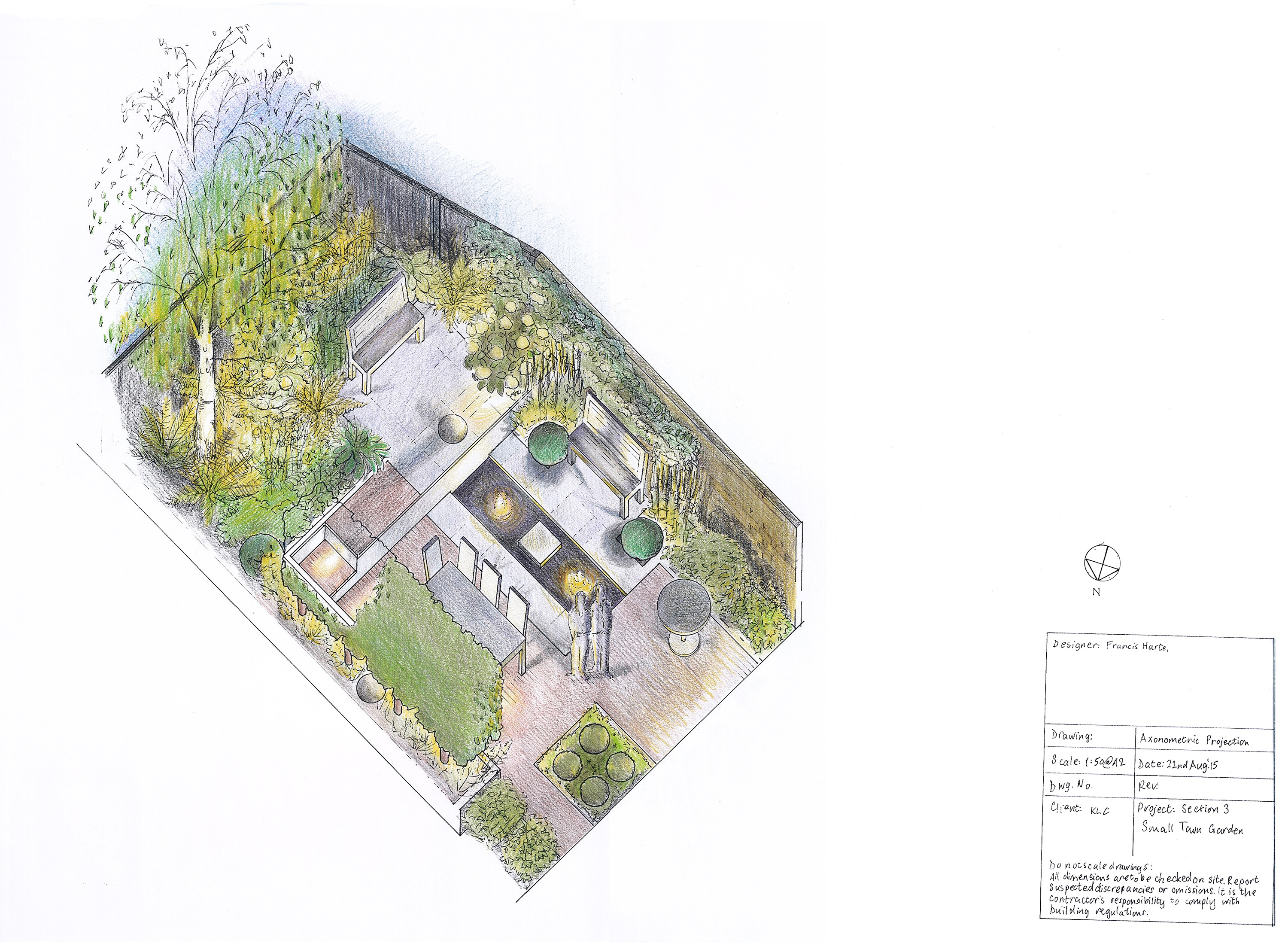 3.2 Small Town Garden Axonometric by Francis Harte
