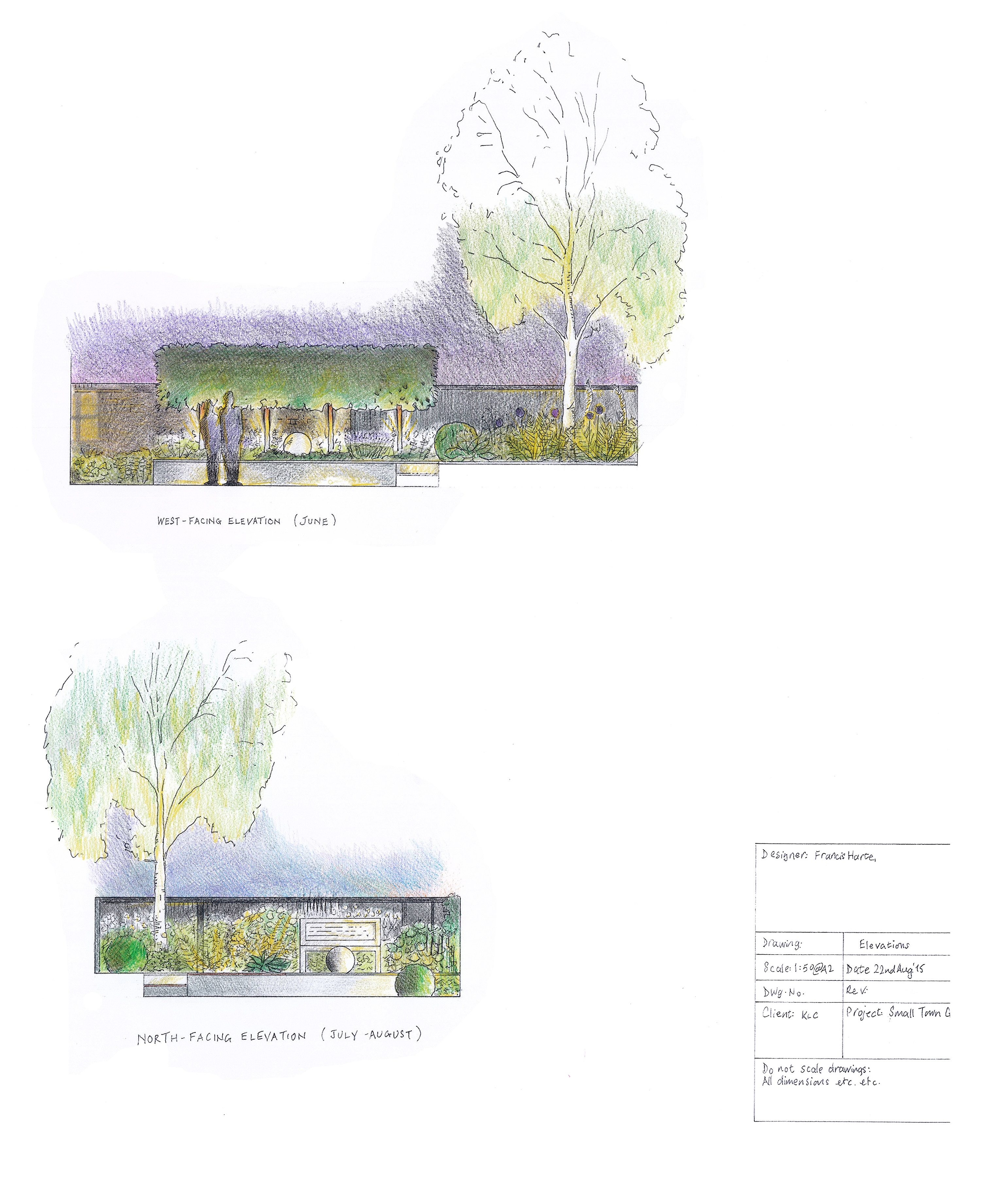 3.2 Small Town Garden Elevations by Francis Harte