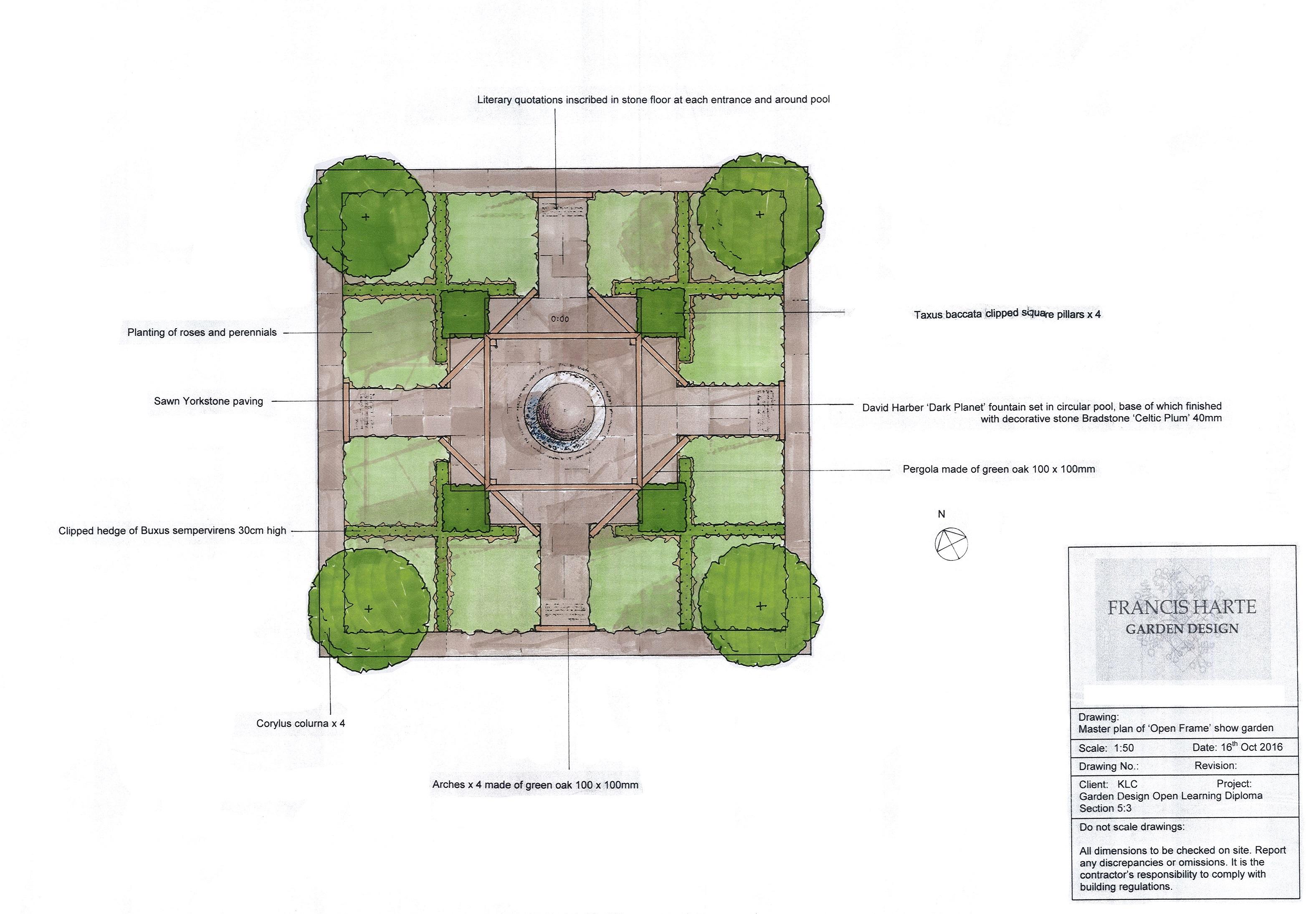5.3 Show Garden Master Plan by Francis Harte