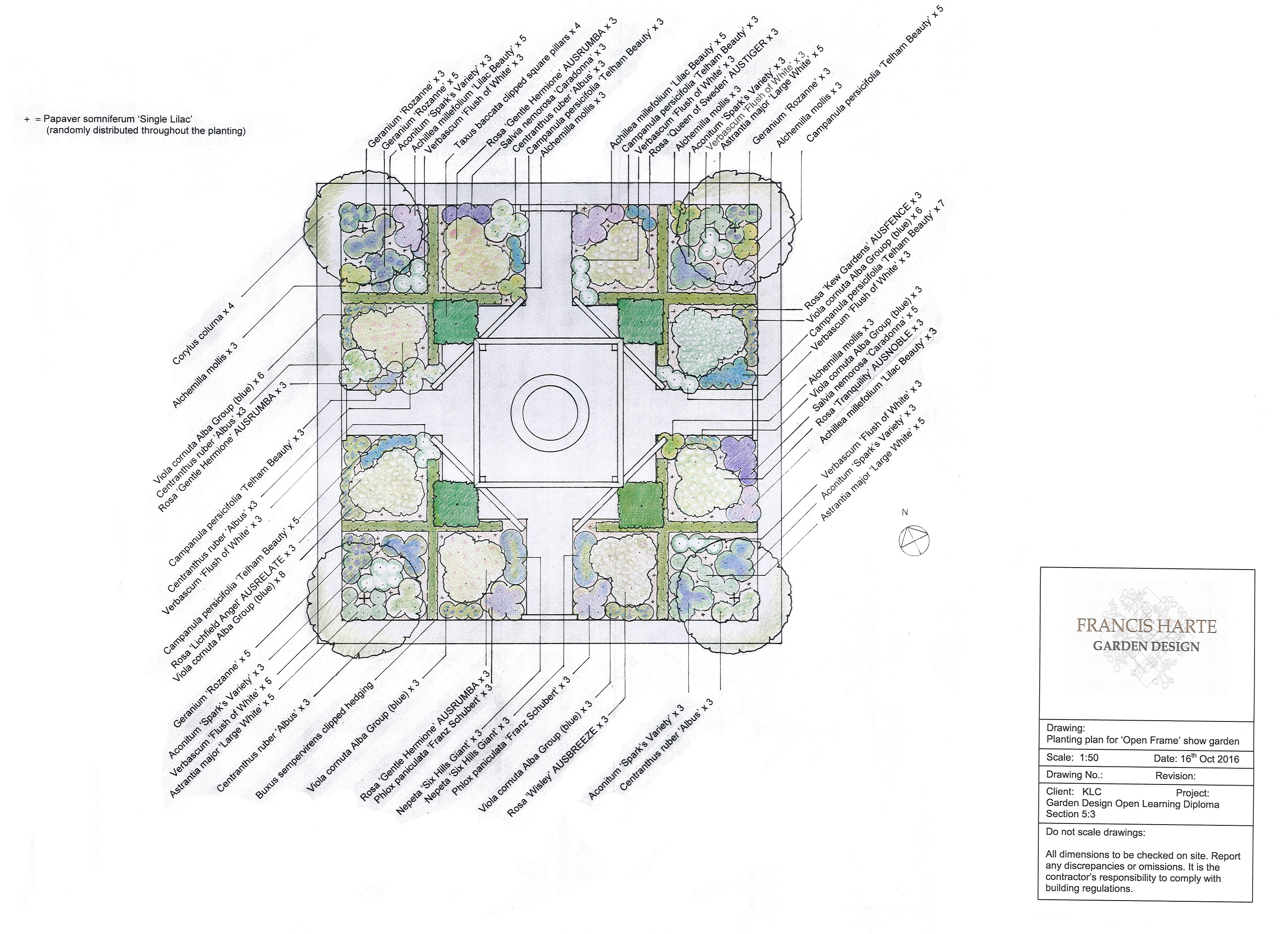 5.3 Show Garden Planting Plan by Francis Harte