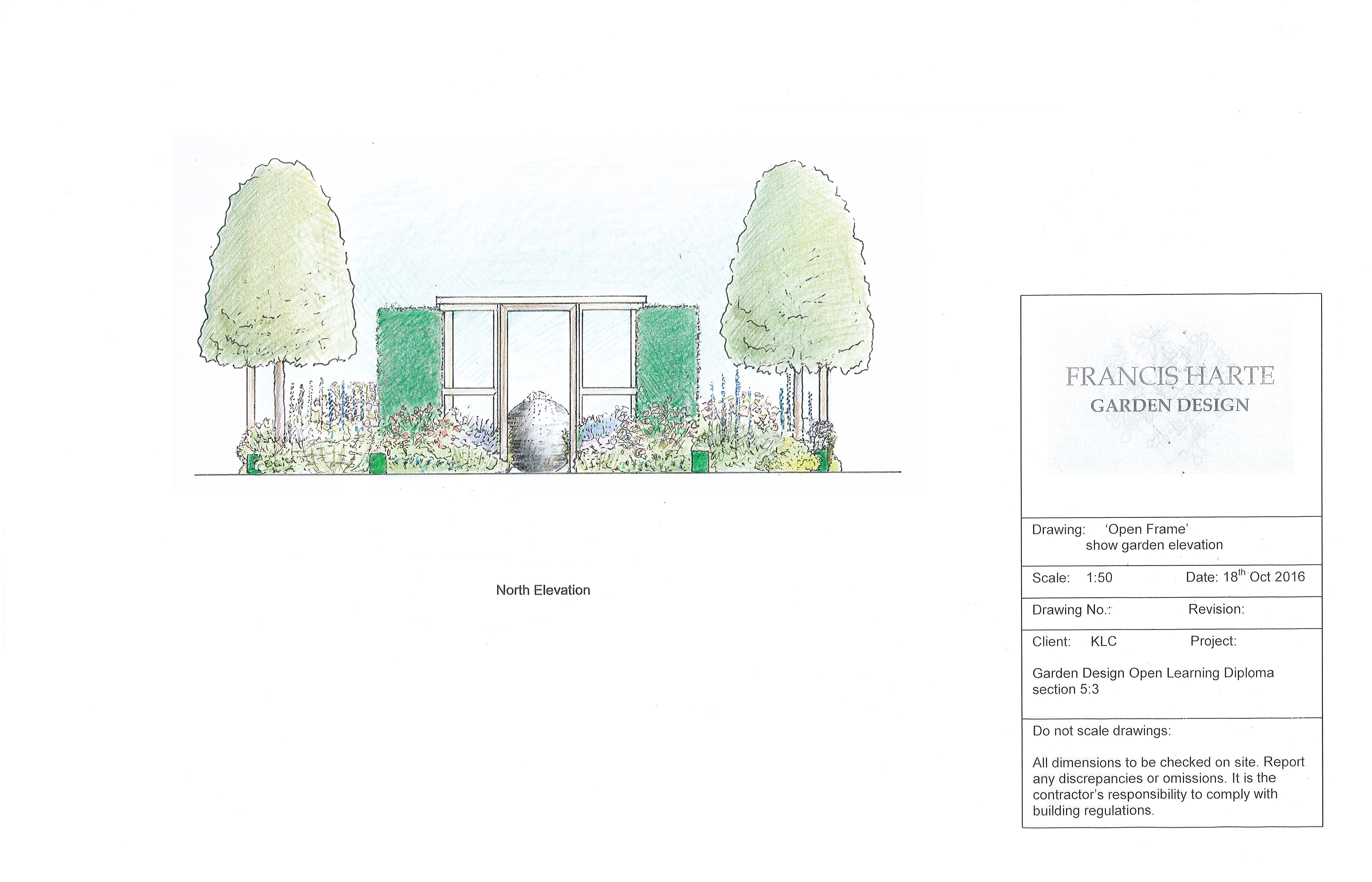 5.3 Show Garden Rendered Elevation by Francis Harte